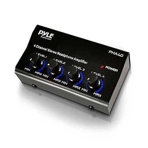 Pyle-Pro-PHA40-4-Channel-Headphone-Amplifier