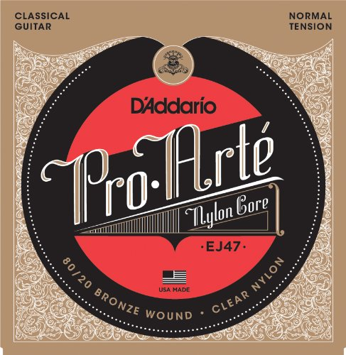 D'Addario EJ47 80/20 clear nylon strings normal tension