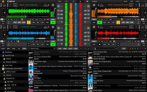 PCDJ DEX 3 software for DJs