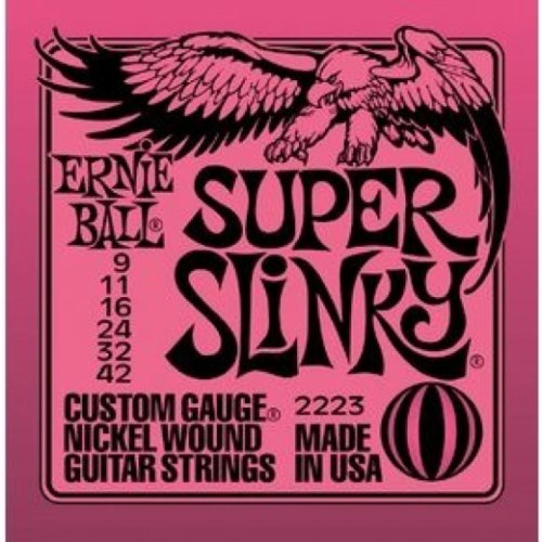 Ernie Ball 2223 Nickel Super Slinky strings