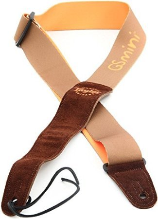 Taylor Guitars Chocolate Suede Logo Guitar Strap