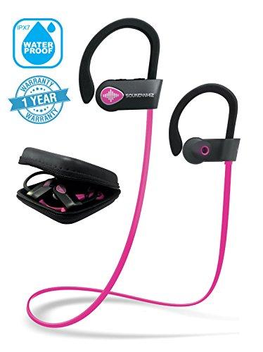 Pink Headphones, Wireless Earphones Bluetooth