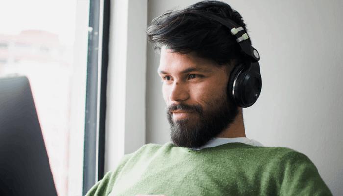Man with headphone