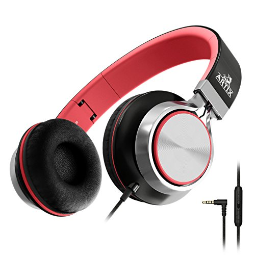 Artix Foldable Headphones with Microphone and Volume Control