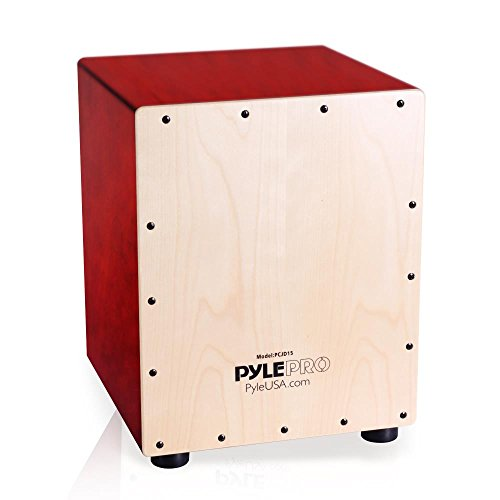 Pyle Jam Wooden Cajon Percussion Box