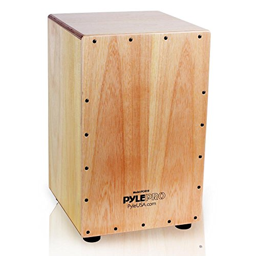 Pyle Jam Wooden Cajon Stringed Percussion Box (PCJD18)
