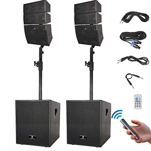 "PRORECK Club 3000 12-"" 3000 Watt DJ/Powered PA Speaker System"