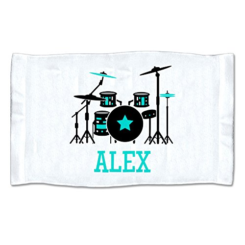 Pattern Pop Small Personalized Drum Set Towel