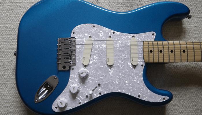 Blue Strat Guitar