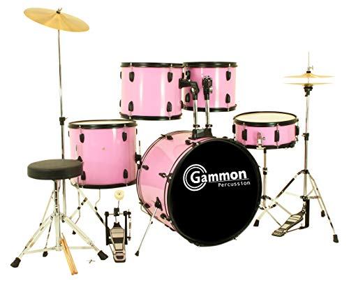 rincess Pink Drum Set with Cymbals Complete Kids Set