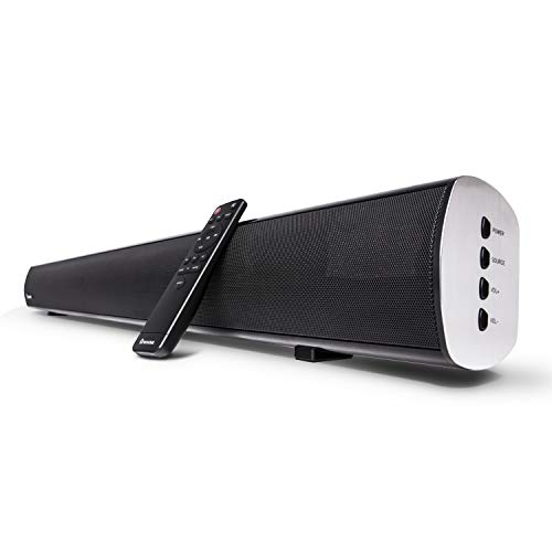 WOHOME Bluetooth Sound Bar with Built-in Dual Subwoofer