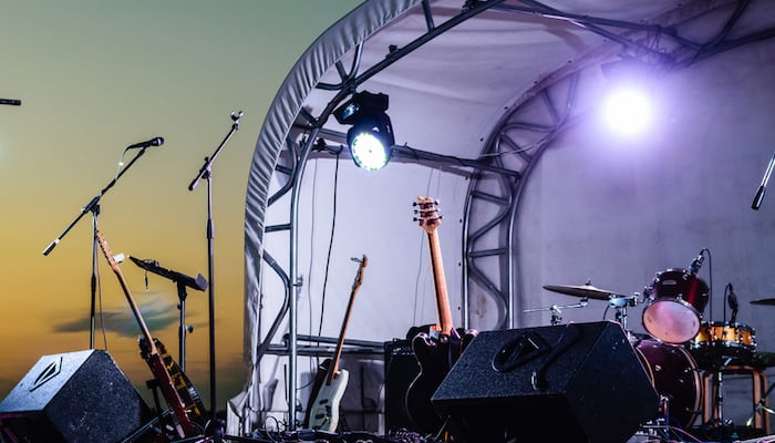 Outdoor Speakers on Stage