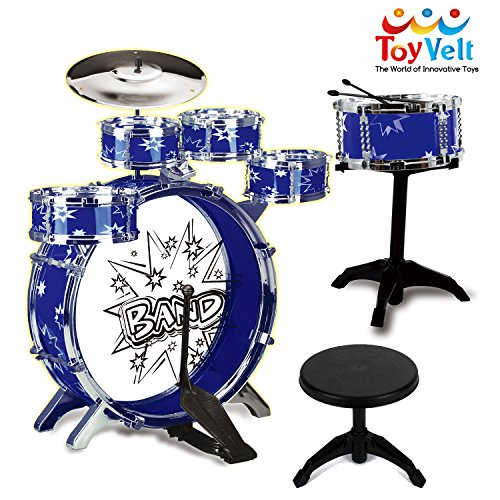 12 Piece Kids Jazz Drum Set – 6 Drums