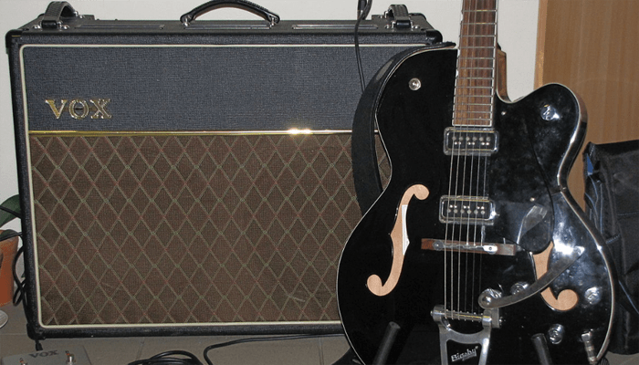 Vox AMp and Electric Guitar