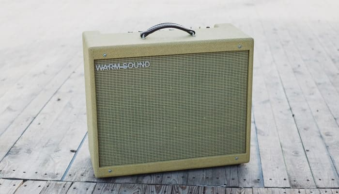 Yellowish Amp on the floor
