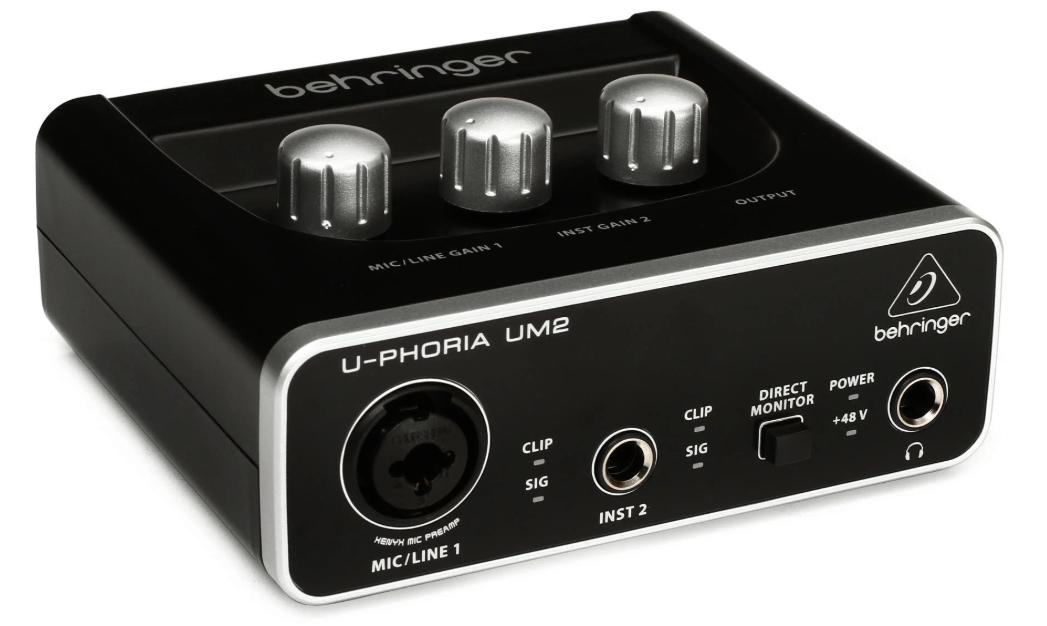 Behringer U Phoria Um2 Usb Audio Interface