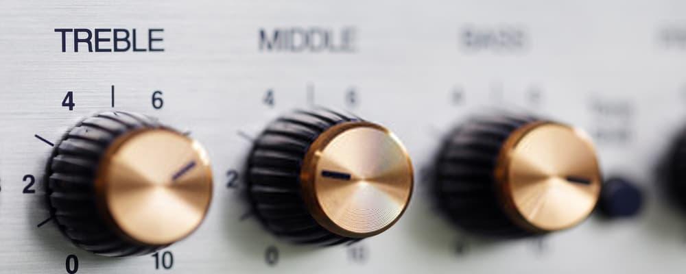 Treble knob