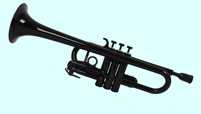 Senior woman playing a trumpet